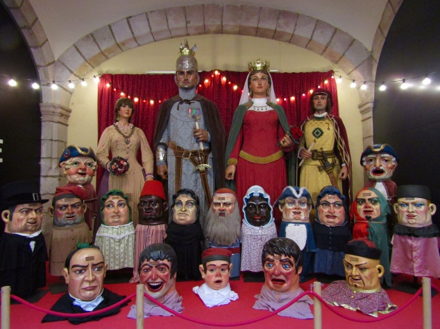 The gigantes y cabezudos (giants and big heads) of Barcelona would be featured throughout the weekend during the Festival of Saint Eulalia.
