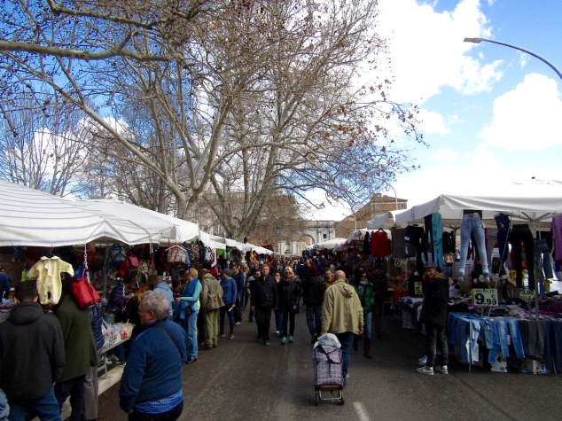 The Porta Portese Flea Market in Trastevere.