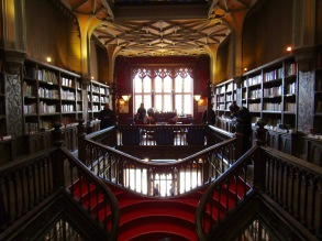 Upstairs at Livraria Lello & Irmão.