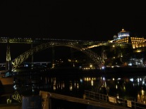 The Ponte Luis I Bridge, designed by a partner of Gustave Eiffel, and Mosteiro de Serra do Pilar.