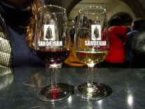 In Sandeman's tasting room, we received a generous sample of their white port and reserve tawny port.