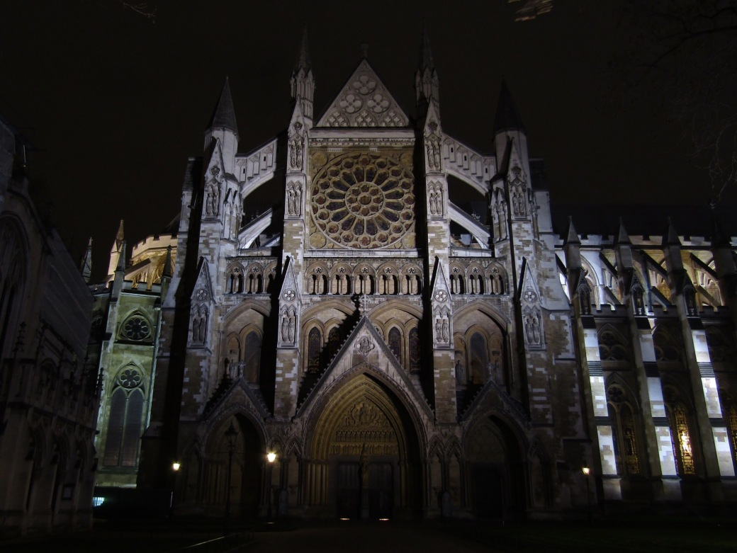 The north facade of Westminster Abbey.