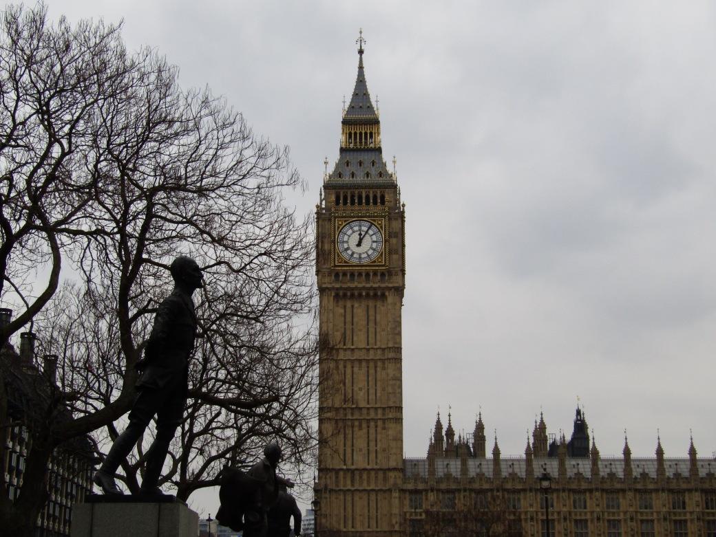 Elizabeth Tower (Big Ben) from Parliament Square.