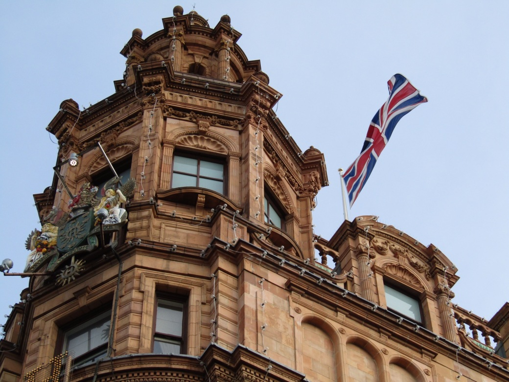 The famous Harrod's department store in London's Knightsbridge neighborhood.