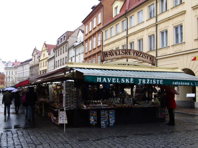 Havelske Trziste, an 800-year-old craft market in Prague's Old Town quarter.