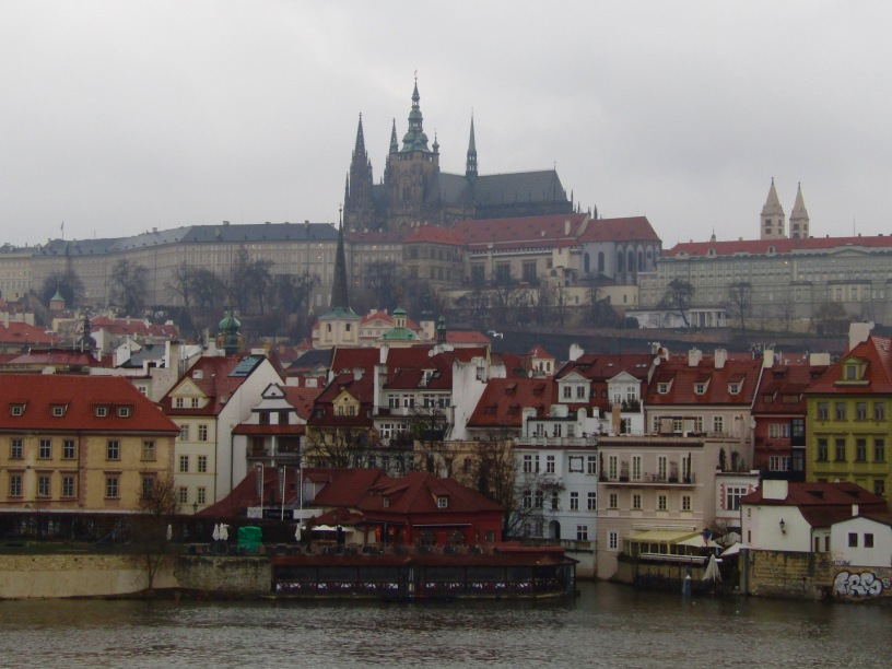 Prague Castle as seen from the Charles Bridge.