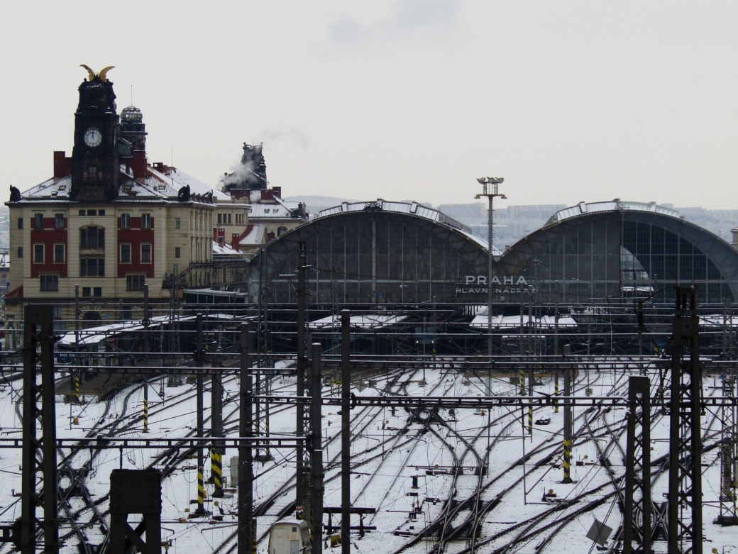 Prague Main Railway Station.