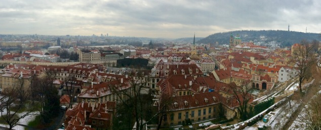 View of Prague from near the castle's west gates.