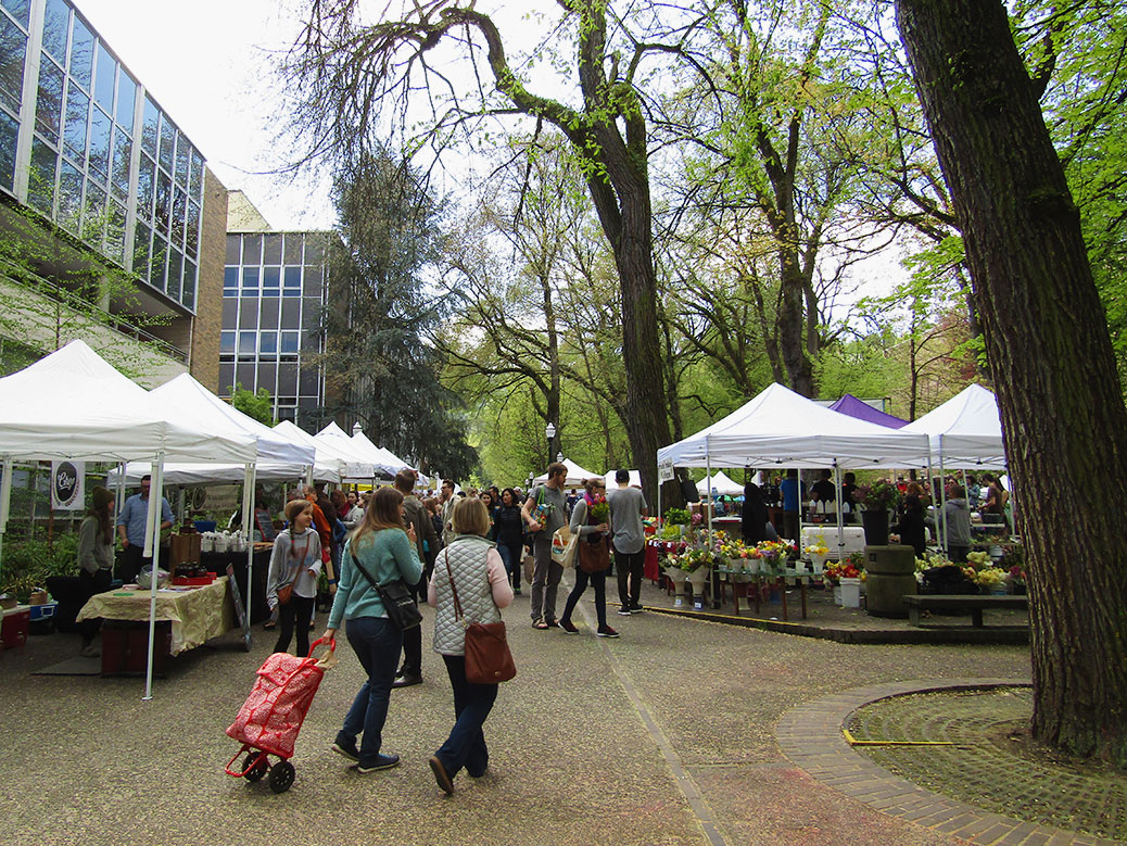 The year-round Portland Farmers Market at Portland State University in the South Park Blocks will celebrate its 25th anniversary in 2017.