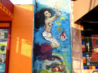 A mural of a mermaid on Alberta St. in NE Portland painted by local artist Pablo Garcia.