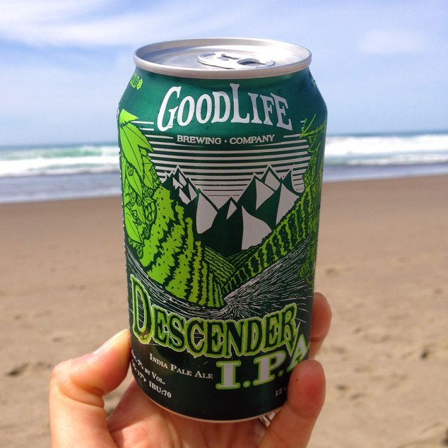 Living the good life on the Oregon Coast with Bend, Ore.'s GoodLife Descender IPA.