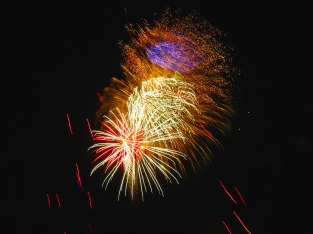 Fireworks at Riverview Park in Independence, Ore.