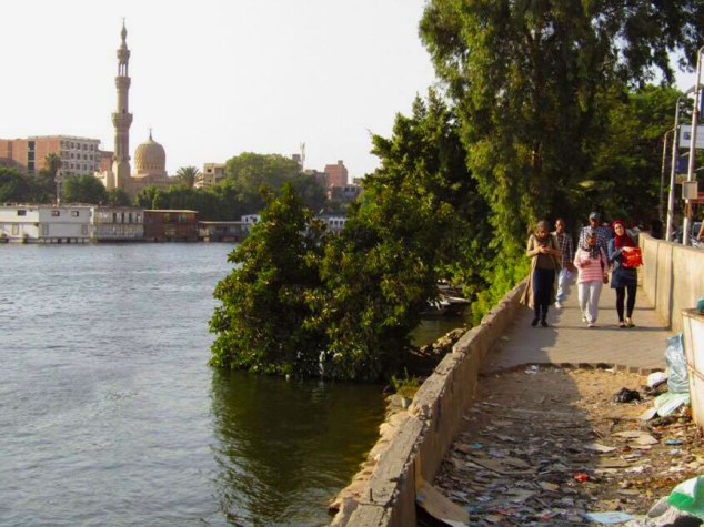 Walkway along the Nile.