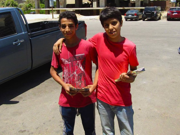 Two young boys in Cairo