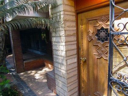 The front door of House 3