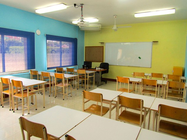 My classroom is very colorful! It will be more decorated soon. The first week I didn't have a clock, which made me feel disorganized.