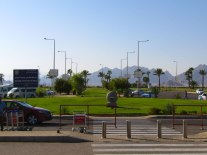 The Sharm-el-Sheikh airport welcoming visitors to the City of Peace.
