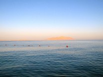 Tiran Island was visible from our resort.