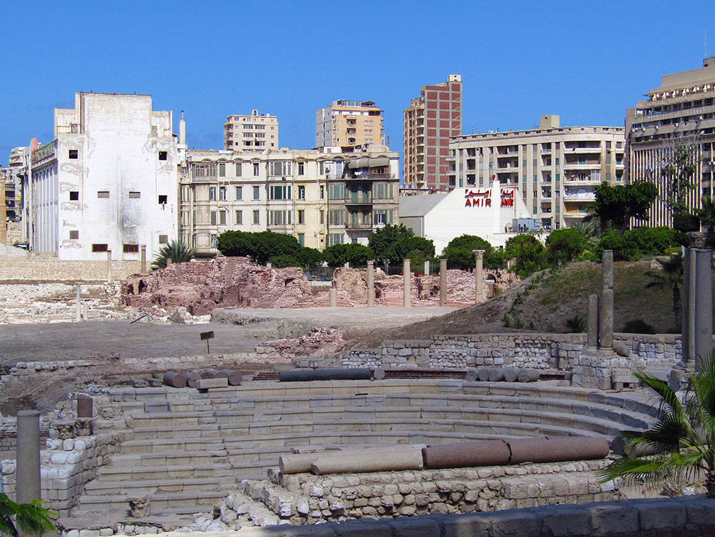 The Roman Amphitheater in Alexandria.