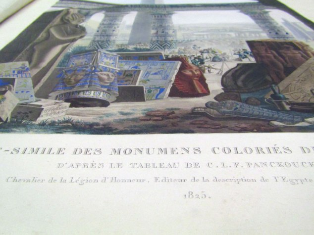 "The ""Fac-simile des monumens colories de L'Egypte"" is one of the original books in the library. It was an illustrated history of ancient Egypt done by the French. It's how we now know what the temples used to look like."