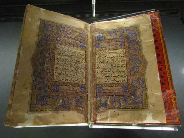 A copy of the Holy Quran.