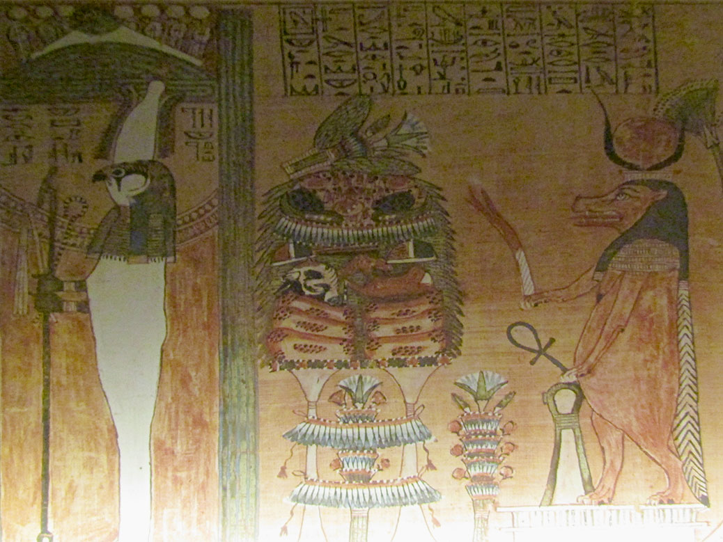 """The Book of the Dead (Papyrus of Ani)"" is a copy of the original at the British Museum. The book held stories or spells that helped the spirits navigate the afterlife."