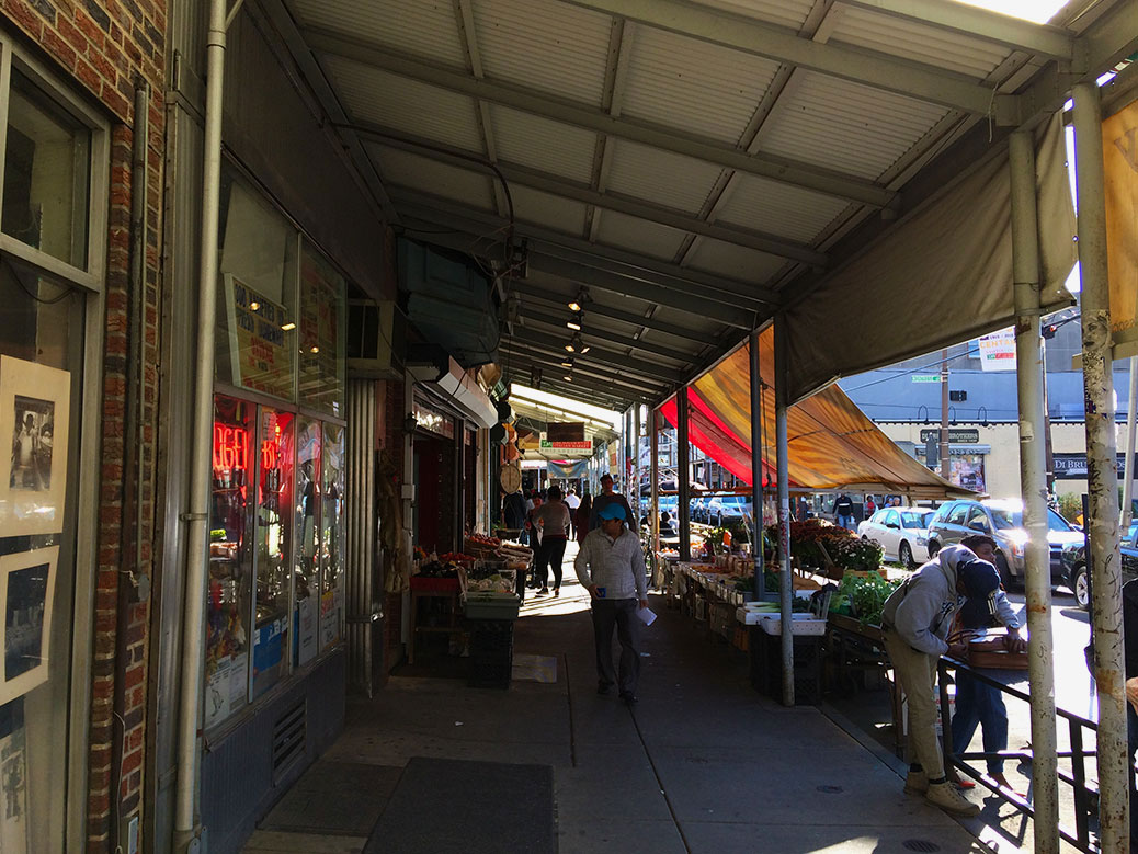 The South 9th Street Curb Market, better known as the Italian Market, has been home to produce stands, cafes and shops run by not just Italians, but immigrants from around the globe, since the late 19th century. Today's market has an increasing Latin American influence.