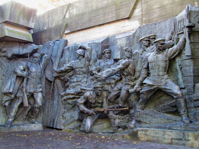 Sculptures in the Alley of Hero Cities depict the 1941 German invasion and terrors of the Nazi occupation.