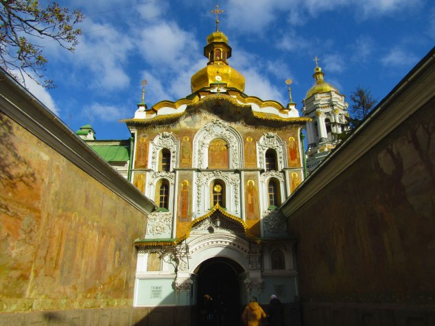 One of the entrances to the Pechersk Lavra. The colors in this picture remind me of Rome.