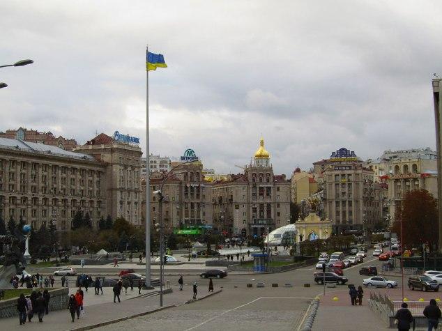"Views from Maidan Nezalezhnosti, ""Independence Square."""